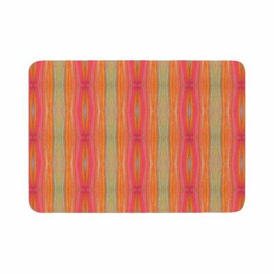 Nika Martinez Summer Tie Dye Coral Memory Foam Bath Rug Size: 0.5 H x 24 W x 36 D