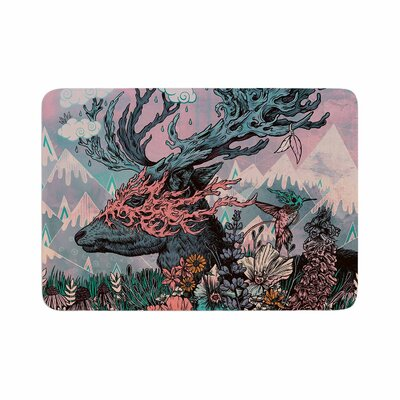 Mat Miller Journeying Spirit (Deer) Fantasy Memory Foam Bath Rug Size: 0.5 H x 24 W x 36 D