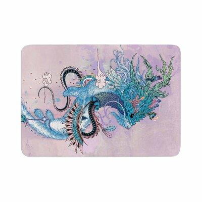 Mat Miller Journeying Spirit (Ermine) Magenta Fantasy Memory Foam Bath Rug Size: 0.5 H x 17 W x 24 D