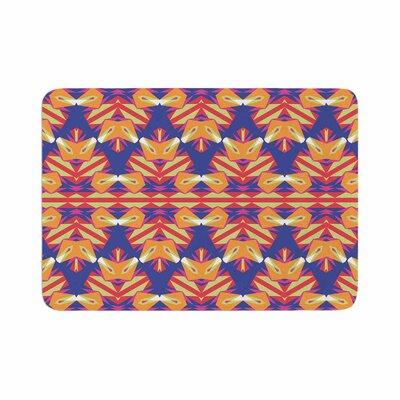 Miranda Mol Ethnic Border Indigo Memory Foam Bath Rug Size: 0.5 H x 24 W x 36 D