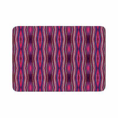 Miranda Mol Watercolor Zigzag Pattern Memory Foam Bath Rug Size: 0.5 H x 17 W x 24 D