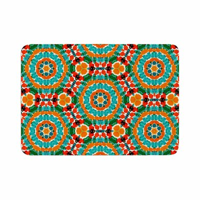 Miranda Mol Hexagon Tiles Orange Pattern Memory Foam Bath Rug Size: 0.5 H x 24 W x 36 D