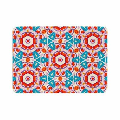 Miranda Mol Kaleidoscopic Circles Pattern Memory Foam Bath Rug Size: 0.5 H x 17 W x 24 D