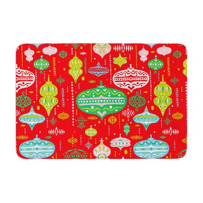 Miranda Mol Ornate Ornaments Memory Foam Size: 0.5 H x 24 W x 36 D, Color: Red