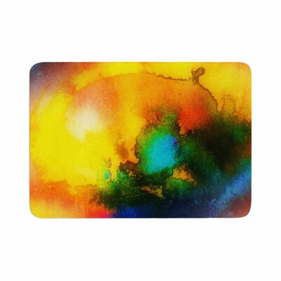 Mimulux Patricia No Good Vibrations Abstract Memory Foam Bath Rug Size: 0.5 H x 17 W x 24 D