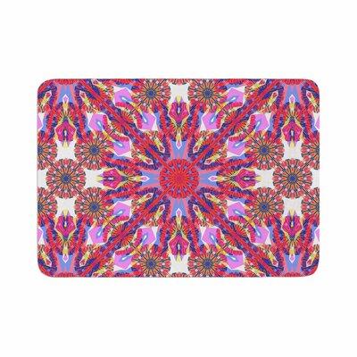 Miranda Mol Kaleidoscopic Floral Memory Foam Bath Rug Size: 0.5 H x 24 W x 36 D