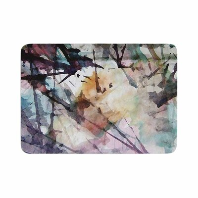 Malia Shields Abstract Trees Abstract Painting Memory Foam Bath Rug Size: 0.5 H x 17 W x 24 D