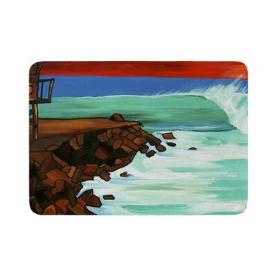 Nathan Gibbs Art Rights off Point Memory Foam Bath Rug Size: 0.5 H x 17 W x 24 D