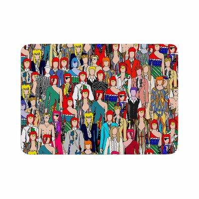Notsniw Wheres Bowie? Memory Foam Bath Rug Size: 0.5 H x 17 W x 24 D