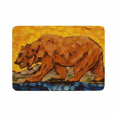Nathan Gibbs Art for a Public Bear Memory Foam Bath Rug Size: 0.5 H x 24 W x 36 D