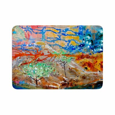 Nathan Gibbs Art the Earth Shows Its End Memory Foam Bath Rug Size: 0.5 H x 17 W x 24 D