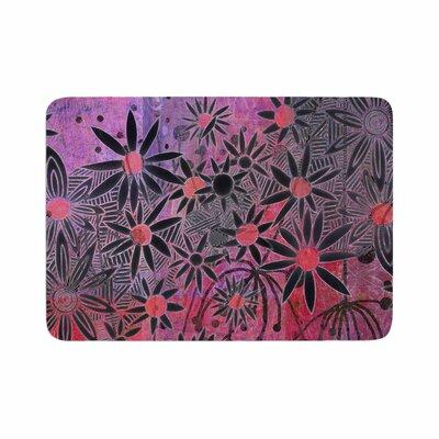 Marianna Tankelevich Flowers Memory Foam Bath Rug Size: 0.5 H x 17 W x 24 D