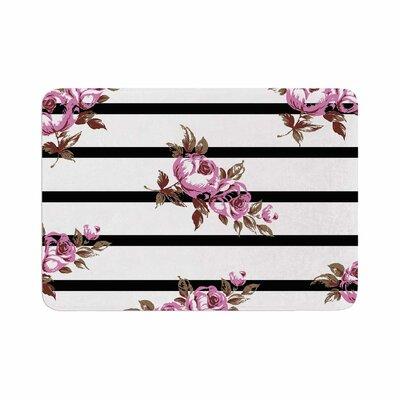 NL Designs Floral Stripes Memory Foam Bath Rug Size: 0.5 H x 24 W x 36 D