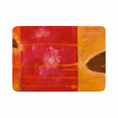 Nathan Gibbs Destination: She Surfs Floral Memory Foam Bath Rug Size: 0.5 H x 24 W x 36 D