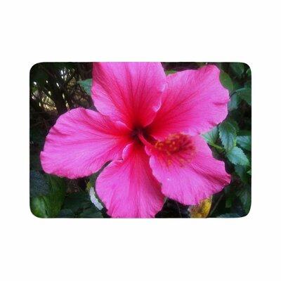 NL Designs Tropical Hibiscus Floral Memory Foam Bath Rug Size: 0.5 H x 24 W x 36 D