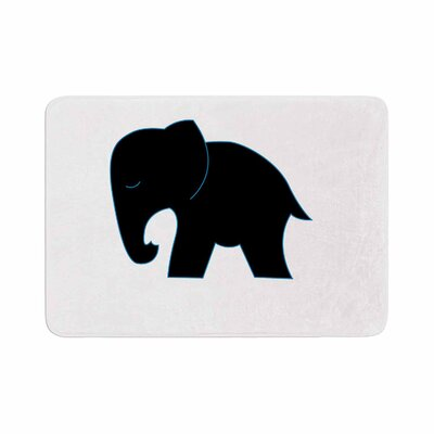 NL Designs Cute Elephant Animals Memory Foam Bath Rug Size: 0.5 H x 24 W x 36 D