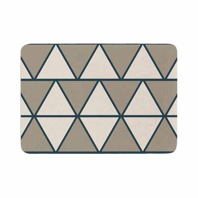 NL designs Sandstone Triangles Geometric Memory Foam Bath Rug Size: 0.5 H x 24 W x 36 D