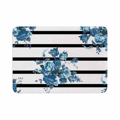NL Designs Floral Strips Memory Foam Bath Rug Size: 0.5 H x 24 W x 36 D