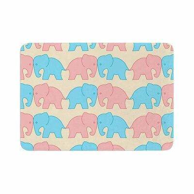 NL Designs Elephants on Parade Animals Memory Foam Bath Rug Size: 0.5 H x 24 W x 36 D