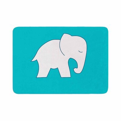 NL Designs Cute Elephant Animals Memory Foam Bath Rug Size: 0.5 H x 17 W x 24 D