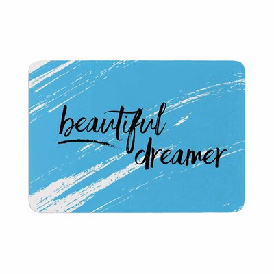 NL designs Beautiful Dreamer Typography Memory Foam Bath Rug Size: 0.5 H x 24 W x 36 D