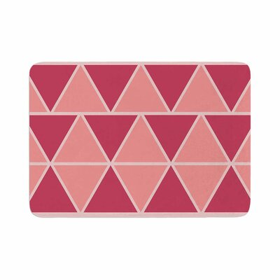 NL designs Coral Triangles Patterns Memory Foam Bath Rug Size: 0.5 H x 17 W x 24 D