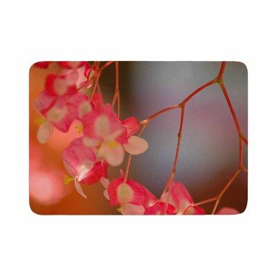 NL Designs Hanging Flowers Floral Memory Foam Bath Rug Size: 0.5 H x 17 W x 24 D