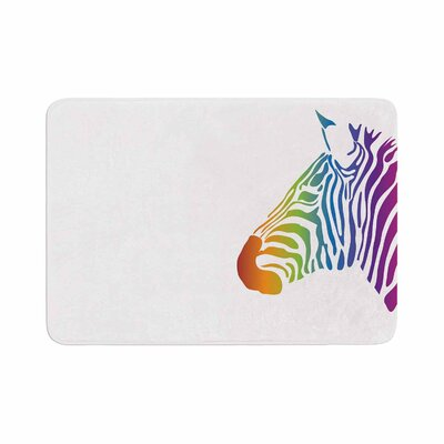 NL designs Zebra Animals Memory Foam Bath Rug Size: 0.5 H x 24 W x 36 D