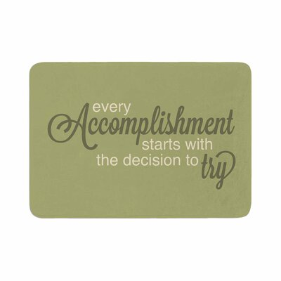 NL designs Accomplishment Typography Memory Foam Size: 0.5 H x 17 W x 24 D