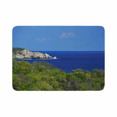 Nick Nareshni Forest to the Ocean Photography Memory Foam Bath Rug Size: 0.5 H x 17 W x 24 D