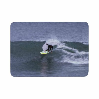 Nick Nareshni Surfers Ride Memory Foam Bath Rug Size: 0.5 H x 17 W x 24 D