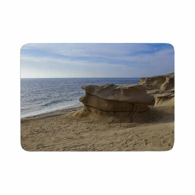 Nick Nareshni Rocks on the Beach Memory Foam Bath Rug Size: 0.5