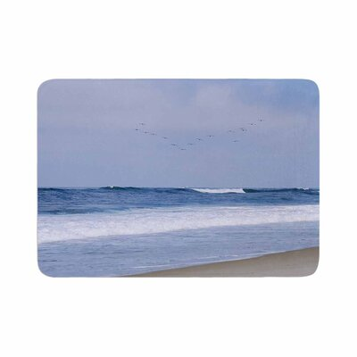 Nick Nareshni Seagulls on the Beach Memory Foam Bath Rug Size: 0.5 H x 17 W x 24 D