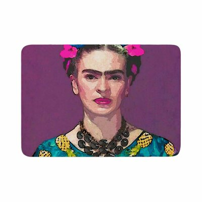Oriana Cordero Trendy Frida Kahlo Memory Foam Bath Rug Size: 0.5 H x 24 W x 36 D