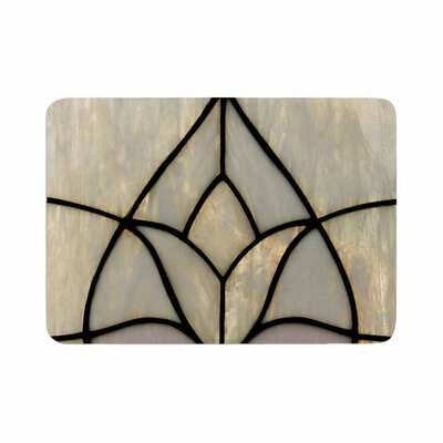 Philip Tulip Stained Glass Floral Digital Memory Foam Bath Rug Size: 0.5 H x 24 W x 36 D