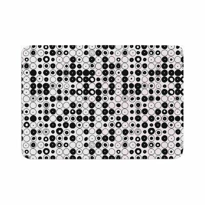 Nandita Singh Funny Polka Dots Abstract Memory Foam Bath Rug Size: 0.5 H x 24 W x 36 D