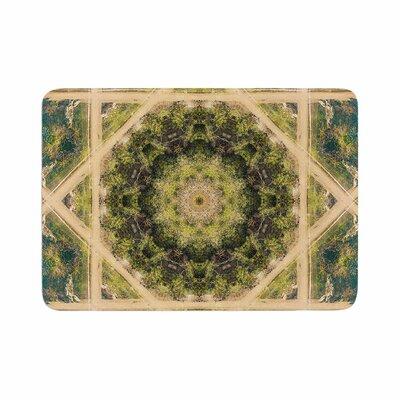 Nick Nareshni Forest Mandala Geometric Memory Foam Bath Rug Size: 0.5 H x 17 W x 24 D