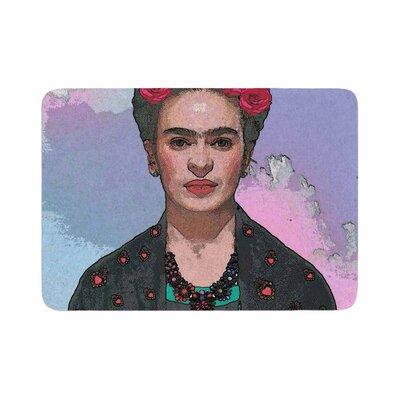 Oriana Cordero Trendy Frida Kahlo Ferwell Memory Foam Bath Rug Size: 0.5 H x 17 W x 24 D