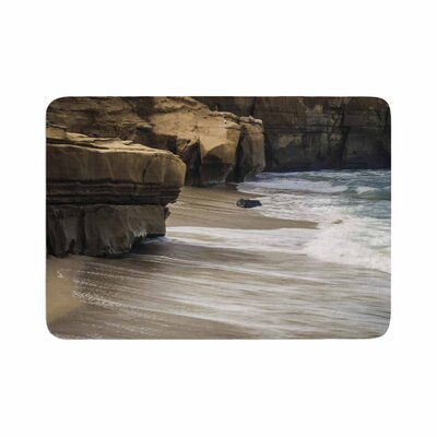 Nick Nareshni La Jolla Cliffside Sandstone Photography Memory Foam Bath Rug Size: 0.5 H x 24 W x 36 D