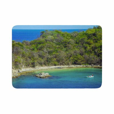 Nick Nareshni the Lonely Fisherman Photography Memory Foam Bath Rug Size: 0.5 H x 24 W x 36 D