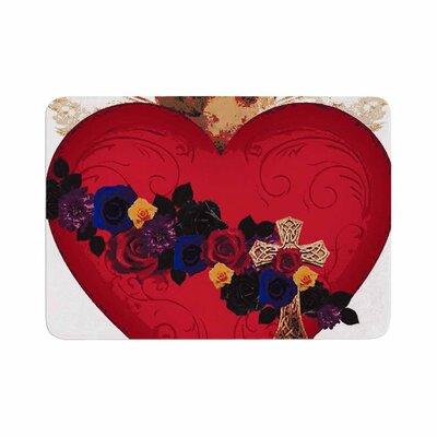 Oriana Cordero Sacred Heart for Frida Memory Foam Bath Rug Size: 0.5 H x 24 W x 36 D