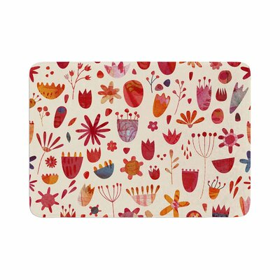 Nic Squirrell Spring Flowers Memory Foam Bath Rug Size: 0.5 H x 24 W x 36 D