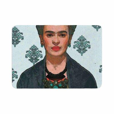 Oriana Cordero Frida Kahlo Trendy V2 Memory Foam Bath Rug Size: 0.5 H x 17 W x 24 D