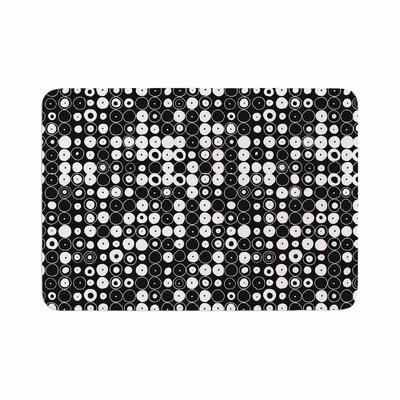 Nandita Singh Funny Polka Dots Abstract Memory Foam Bath Rug Size: 0.5 H x 17 W x 24 D