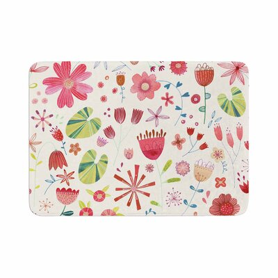 Nic Squirrell Pressed Wildflowers Memory Foam Bath Rug Size: 0.5 H x 24 W x 36 D