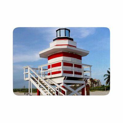 Philip Lighthouse Lifeguard Stand Photography Memory Foam Bath Rug Size: 0.5 H x 24 W x 36 D