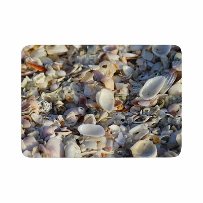 Philip Seashells on the Beach Coral Memory Foam Bath Rug Size: 0.5 H x 24 W x 36 D