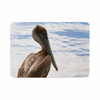 Philip Pelican Waiting Photography Memory Foam Bath Rug Size: 0.5 H x 24 W x 36 D