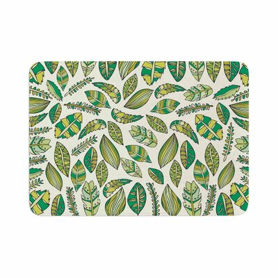Pom Graphic Design Tropical Botanicals Memory Foam Bath Rug Size: 0.5 H x 24 W x 36 D