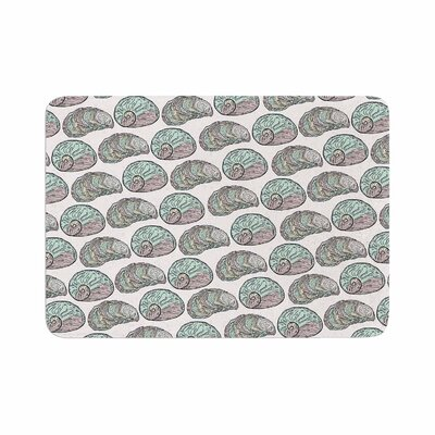 Pom Graphic Design Retro Sea Shells Nautical Memory Foam Bath Rug Size: 0.5 H x 17 W x 24 D